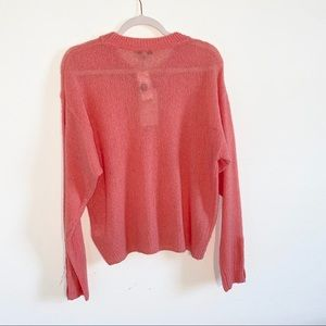 Joie Sweaters - NWT Joie salmon sweater w/button details, size M